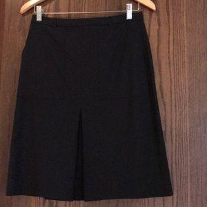 J Crew Black Crepe A Line Skirt